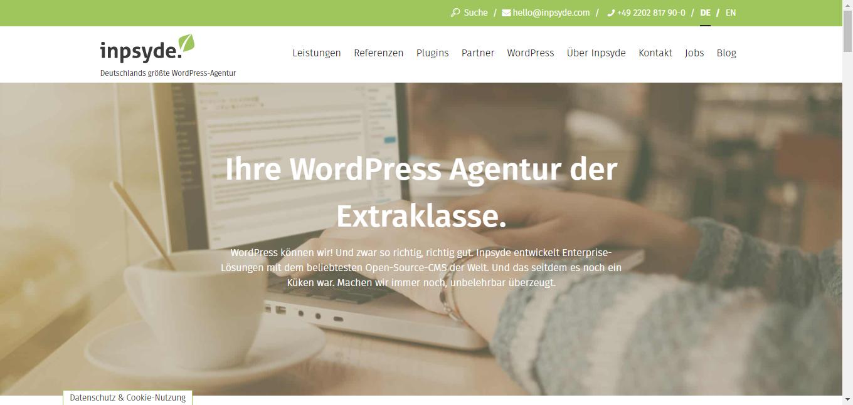 WordPress Multisite Übersicht - Beispiel ipsyde.com