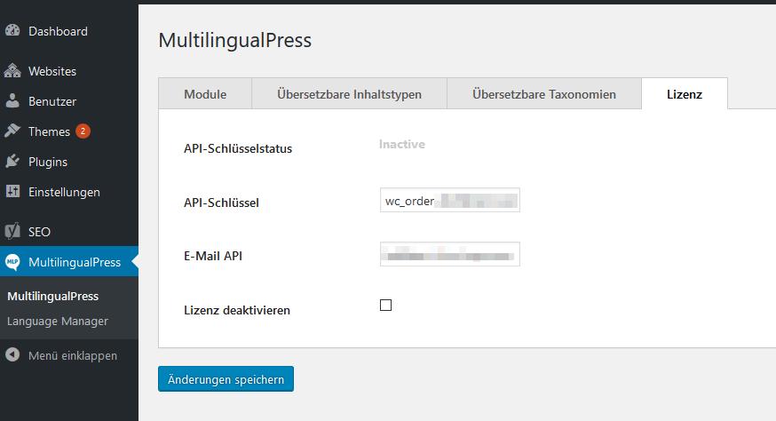 MultilingualPress 3 Lizenz aktivieren