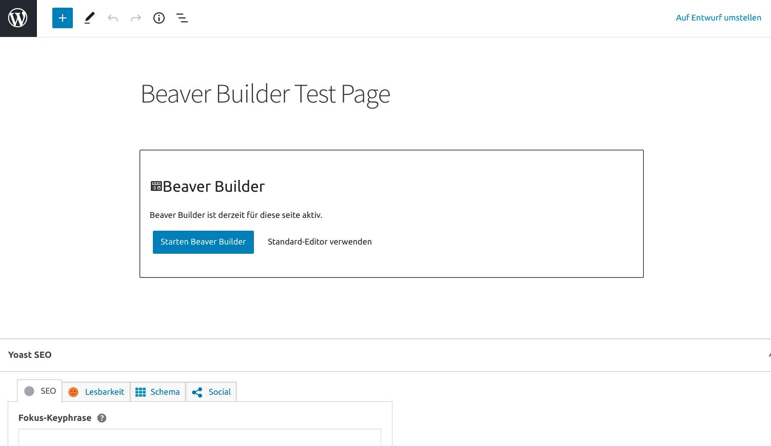 Beaver Builder Testseite