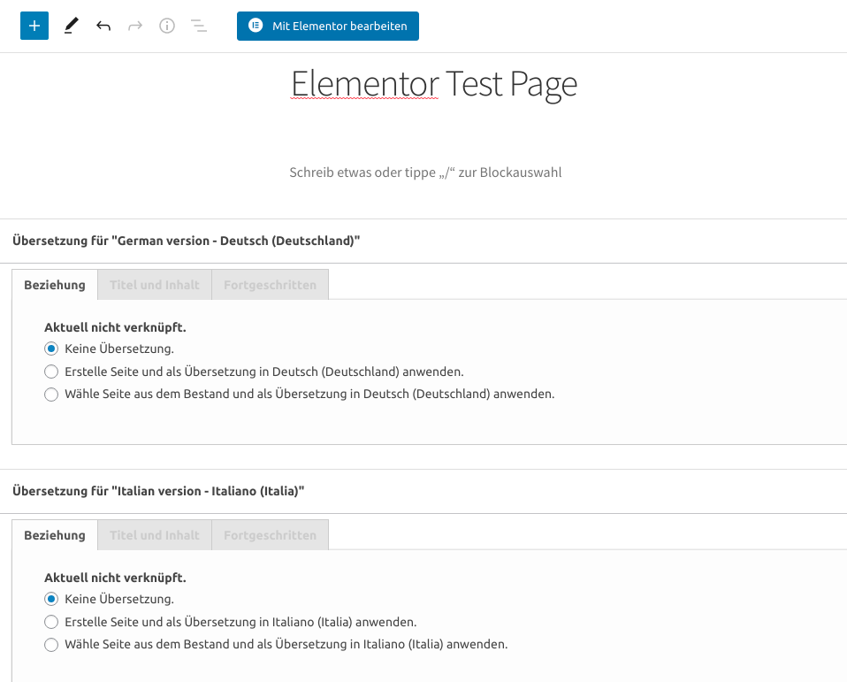 Elementor Test Page